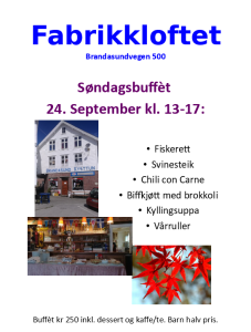 Fabrikkloftet 24 september 17
